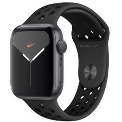 apple watch nike serie 5 gps, 40mm space grey aluminium case with anthracite/black nike sport ue