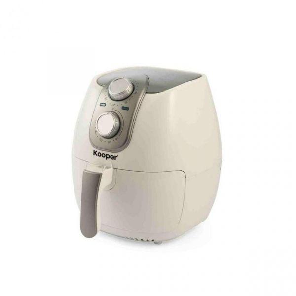 friggitrice kooper ad aria ariosa 4.2lt - cestello 2.8lt 1500w bianca e silver
