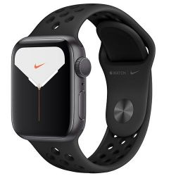 apple watch nike serie5 gps44mm space grey aluminio anthacite. black nike sport band