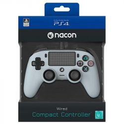 ps4 nacon wired compact controller color edition - silver
