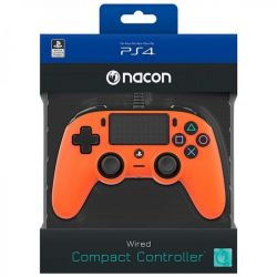 ps4 nacon wired compact controller color edition - orange
