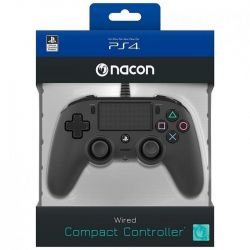 ps4 nacon wired compact controller color edition - black