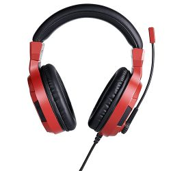 ps4 bigben stereo gaming headset v3 wired - red