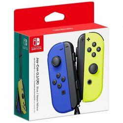 switch joy-con coppia controller blu / giallo neon