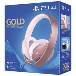 ps4 gold wireless headset - rose gold edition