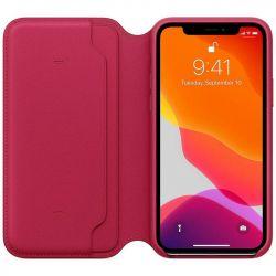 apple iphone 11 pro leather folio - raspberry