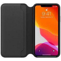 apple iphone 11 pro max leather folio - black