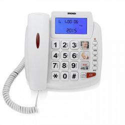 telefono brondi bravo 90 lcd bianco