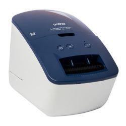 stampante per etichette brother ql600b 300 dpi 71 mm/s usb 2.0 azzurro