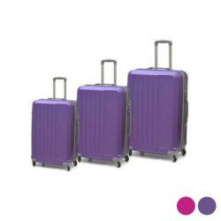 bagaglio a mano set abs 3 pezzi bigbuy home