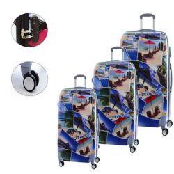 bagaglio a mano set 3 pezzi bigbuy home