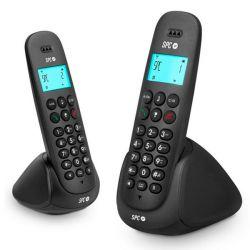 telefono cordless duo telecom 7312n dect nero