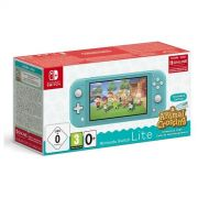 console nintendo switch lite turchese + animal c.n.h. + nso 3 mesi limited