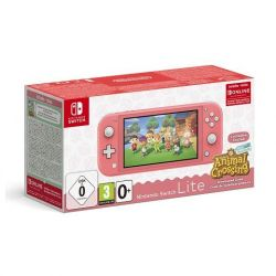 console nintendo switch lite corallo + animal c.n.h. + nso 3 mesi limited