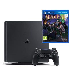 console sony playstation 4 500gb f chassisblack + medievil