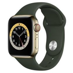 apple watch serie6 gps+cell40mm gold st.steel / cyprus grn sport b.