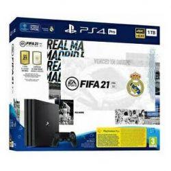 console sony playstation 4 1tb pro black + fifa 21 non italia real madrid edition eu