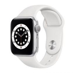 apple watch serie6 gps 40mmsilver aluminium case / white sport band