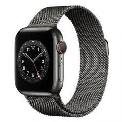 apple watch serie6 gps+cell40mm graphite st.steel/graphite mil.loop