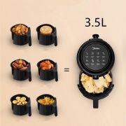 friggitrice midea ad aria mf-tn35a2 6000 series 3.5lt 1450w nero