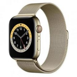 apple watch serie6 gps+cell44mm gold st.steel case/gold mil.loop