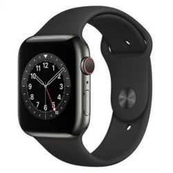apple watch serie6 gps+cell44mm graphite st.steel/black sport band
