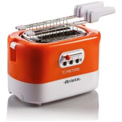 tostapane ariete elettronico 0159 toastime + funzione riscalda e scongela 700w arancio