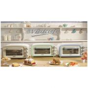 ariete forno elettrico 0979 vintage 18lt 1380w celeste