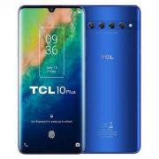 "smartphone tcl 10 plus 6+256gb 6.47"" moonlight blue dual sim italia"