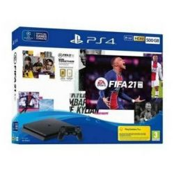 console sony playstation 4 500gb chassis slim black + fifa 21