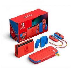 console nintendo switch 1.1 mario red/blue special edition + pochette