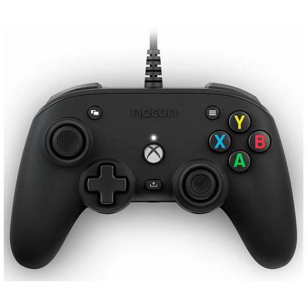 xbox serie x nacon pro compact controller lic. ufficiale xbox nero