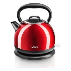 bollitore elettrico con teiera haeger red cherry 2200 w 1,7 l