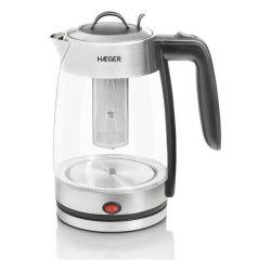 bollitore elettrico con teiera haeger perfect tea 2200 w 1,8 l