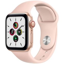 apple watch se gps+cell 40mm gold alum. case/pink sand sport band