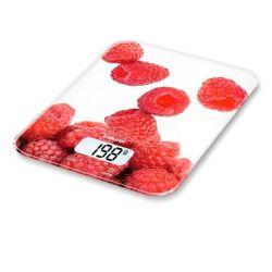 bilancia da cucina beurer ks 19 berry 5 kg bianco rosso
