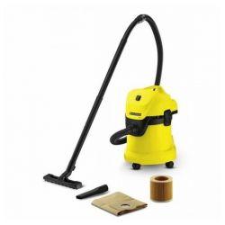 aspirapolvere con sacchetto karcher wd 3 17 l 1000w giallo