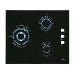 piano cottura a gas cata cib6021bk 60 cm nero 3 fornelli
