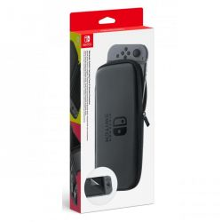 switch kit custodia grigia + pellicola protettiva