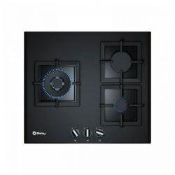 piano cottura a gas balay 3etg663hn 60 cm nero geam 3 fornelli
