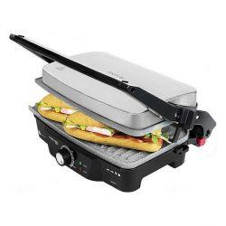 grill a contatto cecotec rock'n grill 1500w inox