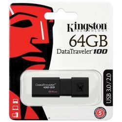 pendrive kingston  usb 3.0 64gb dt100g3/64gb