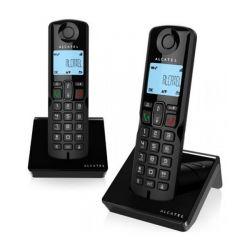 telefono cordless alcatel s250duo dect nero 2 pz
