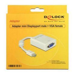 adattatore mini displayport con vga delock 65130 bianco