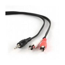 cavo audio jack 3,5 mm con 2 rca gembird cca-458-2.5m 2,5 m nero