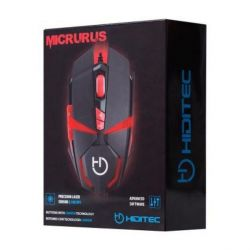 mouse gaming hiditec micrurus 8100 dpi nero rosso
