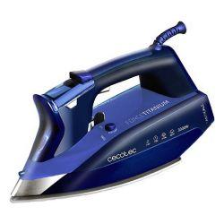 ferro da stiro a vapore cecotec forcetitanium 720 smart 300 ml 3000w azzurro