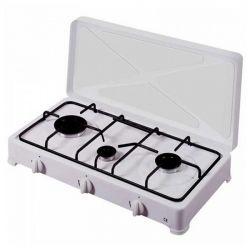 fornello a gas vitrokitchen 300bb bianco 3 fornelli 32 x 60 x 12 cm