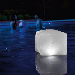 cubo led gonfiabile per piscina intex