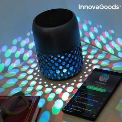 lampada led ricaricabile con altoparlante bluetooth mandalamp innovagoods